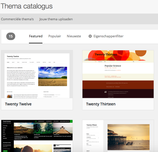 Themes - WordPress